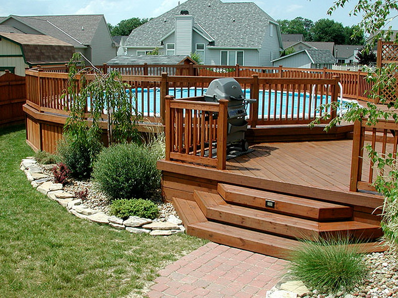 Landscaping Pictures For Decks : Designs arizona backyard landscaping pictures decks for above ground